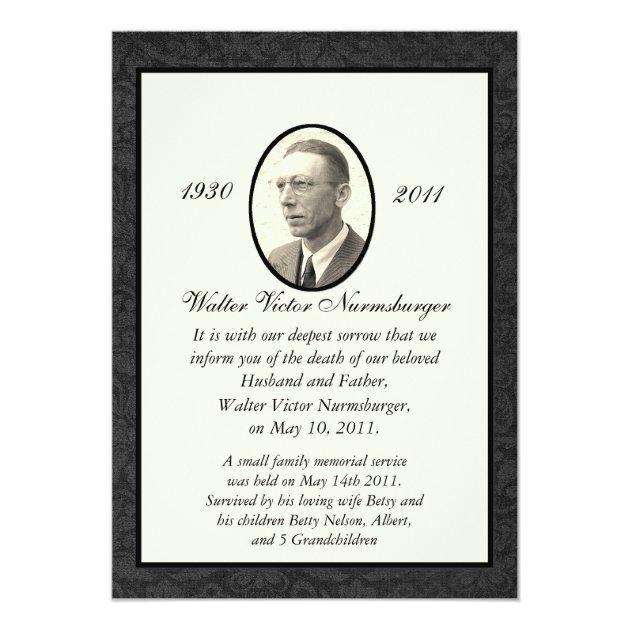 funeral invitation templates free