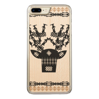 Traditional deer pattern carved iPhone 8 plus/7 plus case