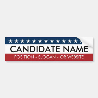 Traditional Design - Make Your Own Campaign Bumper Sticker