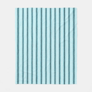 """Traditional Designs""  Med-Pillow Tick Blue Fleece Blanket"