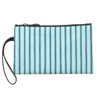 """Traditional Designs"" Pillow Tick Blue Wristlet Clutch"