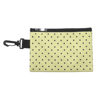 """Traditional Designs"" Polka Dot / Cream Accessory Bags"