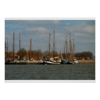 Traditional Dutch Sailing vessels Enkhuizen Poster