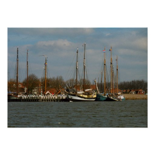 Traditional Dutch Sailing vessels, Enkhuizen Print