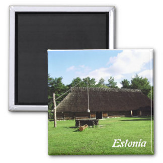 Traditional Estonian House Magnet