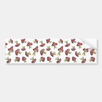 Traditional Fairy Toadstool Pattern Bumper Sticker