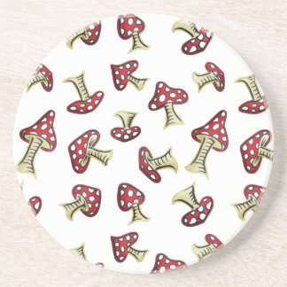 Traditional Fairy Toadstool Pattern Coaster