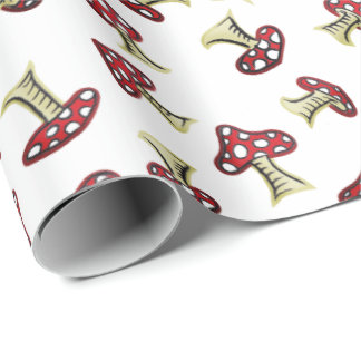 Traditional Fairy Toadstool Pattern Wrapping Paper