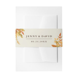 Traditional Fall Belly Band Invitation Belly Band