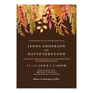 Traditional Fall Watercolour Wedding Invitations