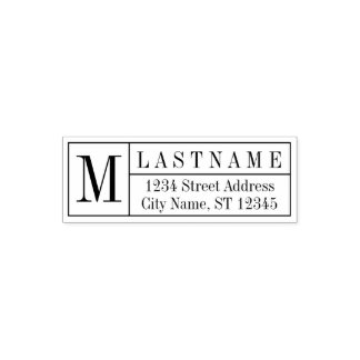 Traditional Family Monogram & Return Address Self-inking Stamp