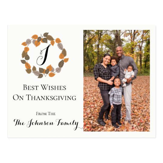 Traditional Family Photo Card | Thanksgiving
