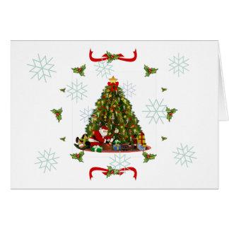 Traditional fir tree card
