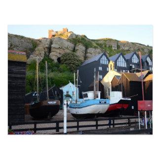 Traditional Fishing Boats And Fishermens' Huts Postcard