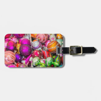 Traditional Glass Ornaments At Christmas Market Luggage Tag
