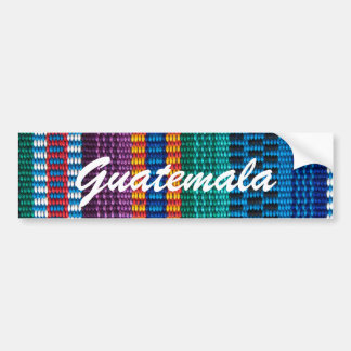 Traditional Guatemala fabric weave custom text Bumper Sticker