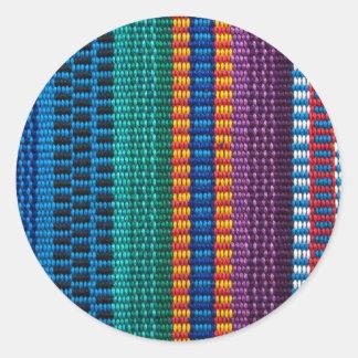 Traditional Guatemala fabric weave Round Sticker