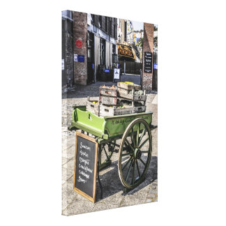 Traditional Hand cart loaded with fresh fruit Canvas Print