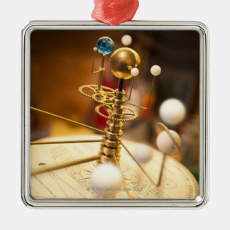 Traditional handcrafted brass orrery with the ornaments