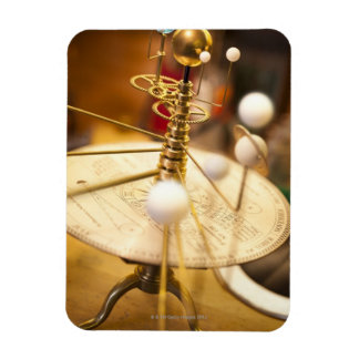 Traditional handcrafted brass orrery with the rectangular photo magnet