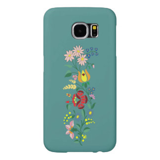 Traditional Hungarian flower Embroidery Samsung Galaxy S6 Cases