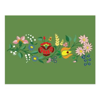 Traditional hungarian folk motif, simple postcard