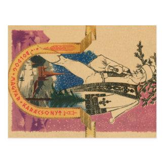 Traditional Hungarian Xmas Card Postcard