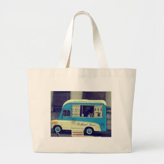 Traditional ice cream vintage cute truck jumbo tote bag