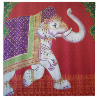 Traditional Indian elephants American MoJo Napkin