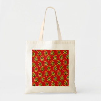 Traditional indian fabric design budget tote bag