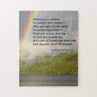 Traditional Irish Blessing Jigsaw Puzzle