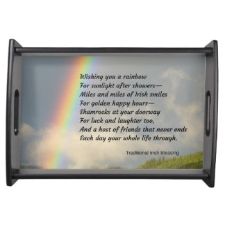 Traditional Irish Blessing Serving Tray