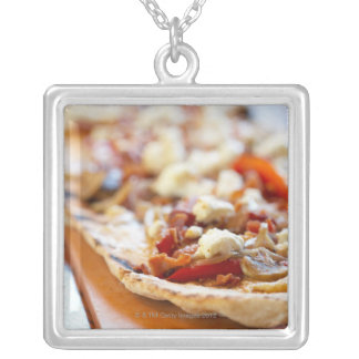 Traditional Italian pizza Silver Plated Necklace