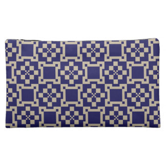 Traditional Japanese Block Patterns Cosmetic Bag