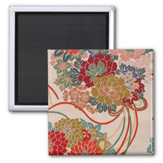 Traditional Japanese fabric design Magnet