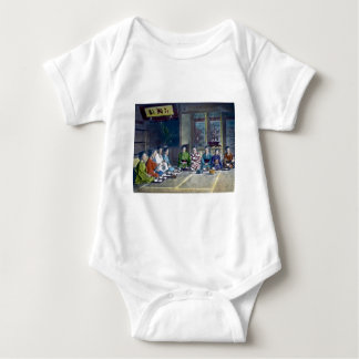 Traditional Japanese Family Meal Hand Tinted 家族 Baby Bodysuit