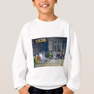 Traditional Japanese Family Meal Hand Tinted 家族 T-shirt
