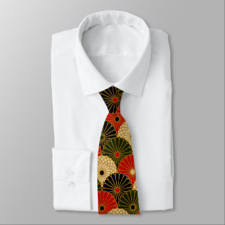 Traditional Japanese pattern mens tie