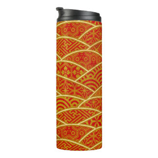 Traditional Japanese pattern thermo tumbler
