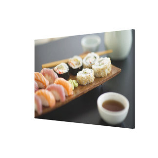 Traditional Japanese sushi Canvas Print