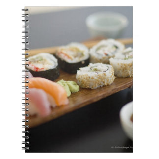 Traditional Japanese sushi Spiral Notebook