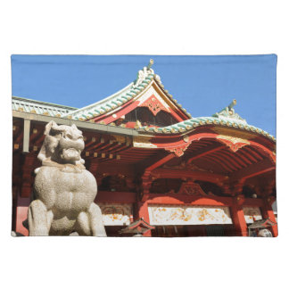 Traditional Japanese temple in Tokyo Placemat