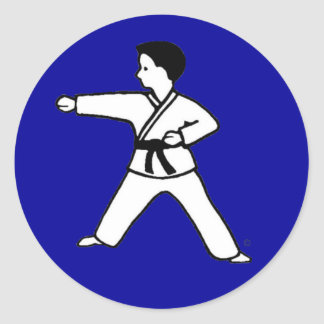Traditional Karate Kid 3 on royal blue stickers