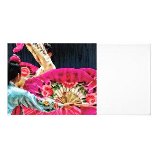 Traditional Korean Fan Dance Personalized Photo Card