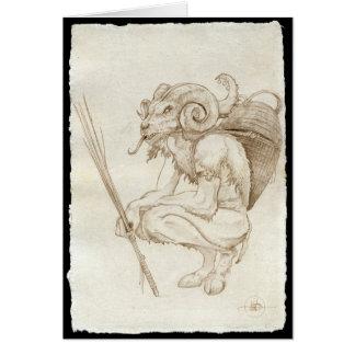 Traditional Krampus Card