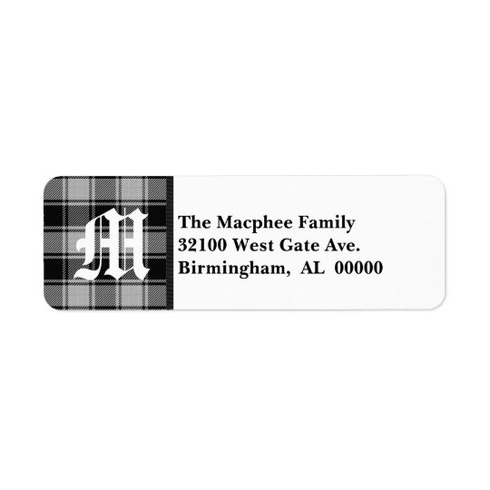 Traditional Macphee Tartan Plaid Monogram