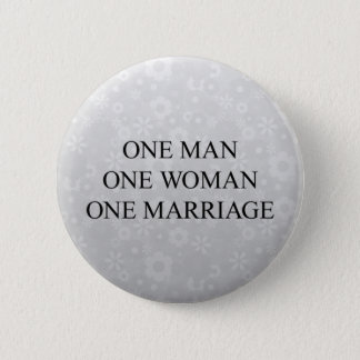 Traditional Marriage 6 Cm Round Badge