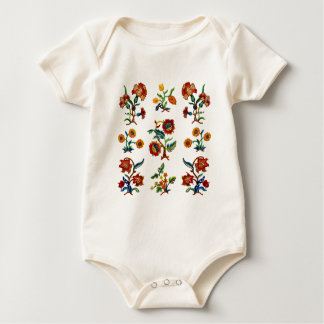 Traditional Monmouth Jacobean Embroidery Baby Bodysuit