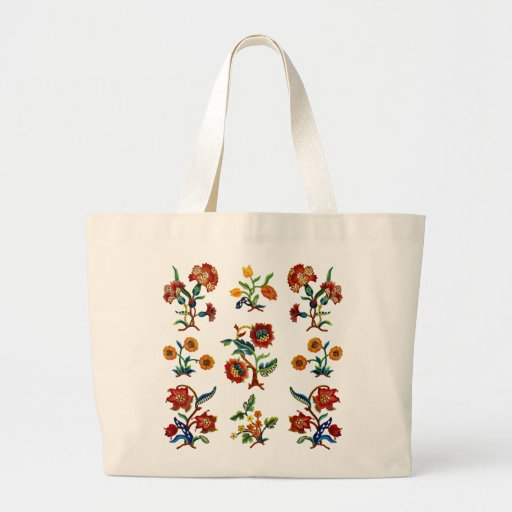 Traditional Monmouth Jacobean Embroidery Tote Bags
