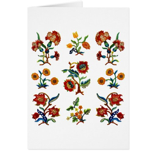 Traditional Monmouth Jacobean Embroidery Cards